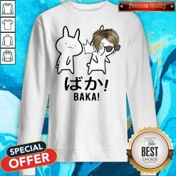 Baka Karen Rabbit Slap Anime Meme Funny Snow Flake American Sweatshirt