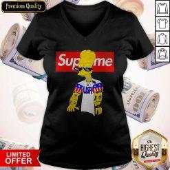 Bart Simpson Supreme USA Thug Life V-neck