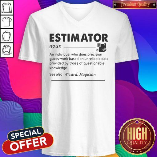 Estimator An Individual Who Does Precision V-neck