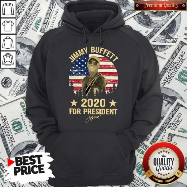 Jimmy Buffett 2020 For President American Flag Vintage Hoodie