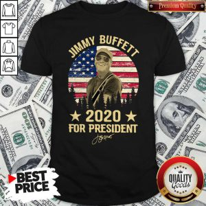 Jimmy Buffett 2020 For President American Flag Vintage Shirt