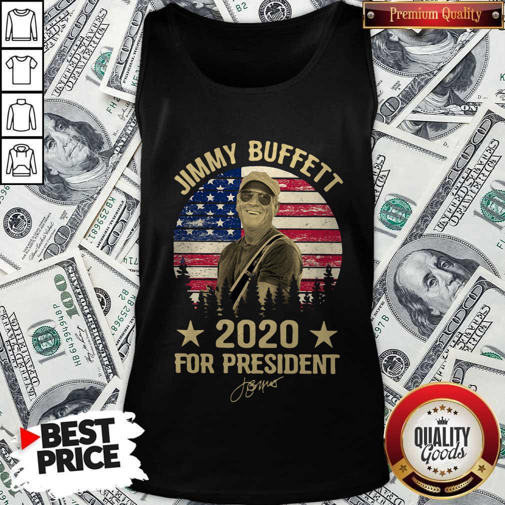 Jimmy Buffett 2020 For President American Flag Vintage Tank Top