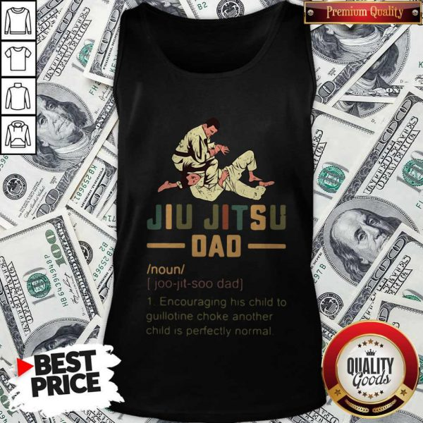Jiu Jitsu Dad Encouraging His Child To Guillotine Choke Another Tank Top