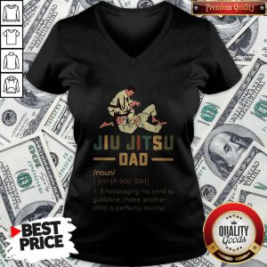 Jiu Jitsu Dad Encouraging His Child To Guillotine Choke Another V-neck