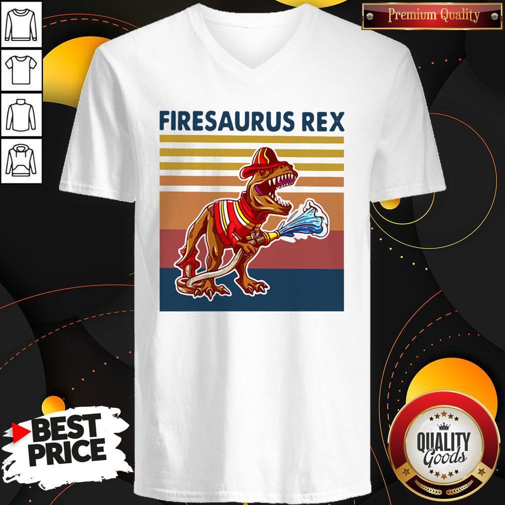 Official Firesausus Rex Vintage V-neck