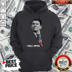 Official Ronald Reagan I Smell Hippies Hoodie
