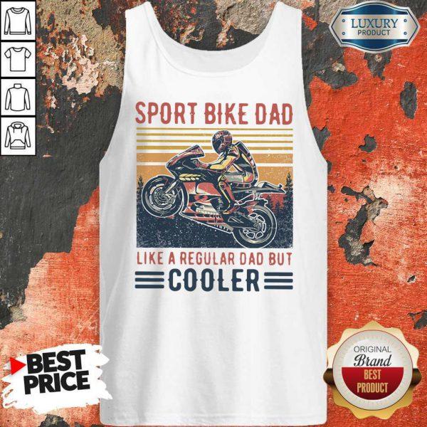 Sport Bike Dad Like A Regular Dad But Cooler Vintage Tank Top