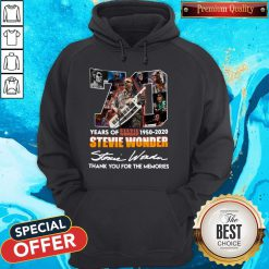 70 Years Of Stevie Wonder 1950 2020 Thank You For The Memories Signature Hoodie