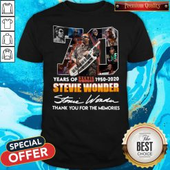 70 Years Of Stevie Wonder 1950 2020 Thank You For The Memories Signature Shirt