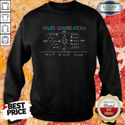 Awesome Vowel Quadrilateral High Front Back Low Diphthongs Back To School Sweatshirt