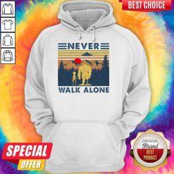 Bigfoot And Alien Never Walk Alone Vintage Hoodie