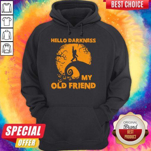 Bigfoot Hello Darkness My Old Friend Hoodie