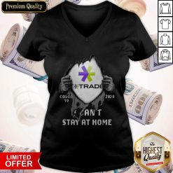 Blood Inside Me E-Trade Covid 19 2020 I Can't Stay At Home V-neck