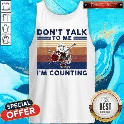 Don't Talk To Me I'm Counting Original Sheep Knitting Vintage Retro Tank Top