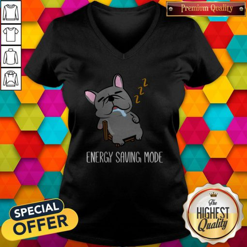 Energy Saving Mode Sleeping French Bulldog V-neck