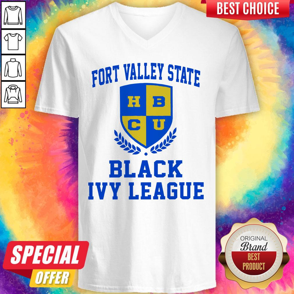 Fort Valley State HBCU Black Ivy League V-neck