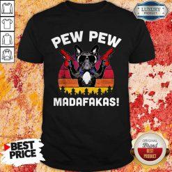 Frenchie Pew Pew Madafakas Vintage T-Shirt