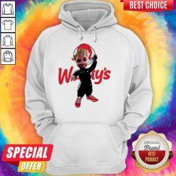 Funny Baby Groot Wendy's Logo Hoodie