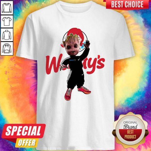 Funny Baby Groot Wendy's Logo Shirt