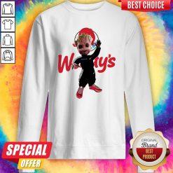 Funny Baby Groot Wendy's Logo Sweatshirt