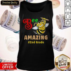 Funny Bee Amazing #2nd Grade Tank Top