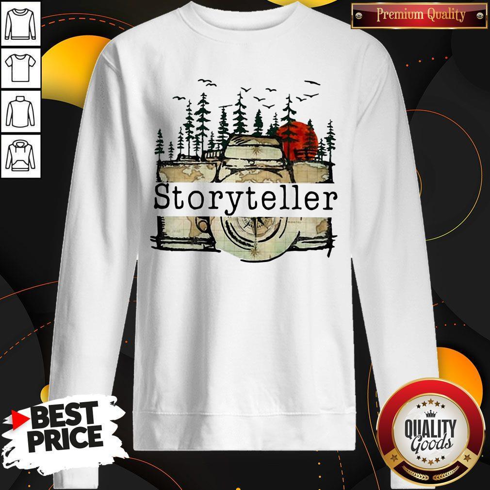 Funny Camera Storyteller Moon Sweatshirt