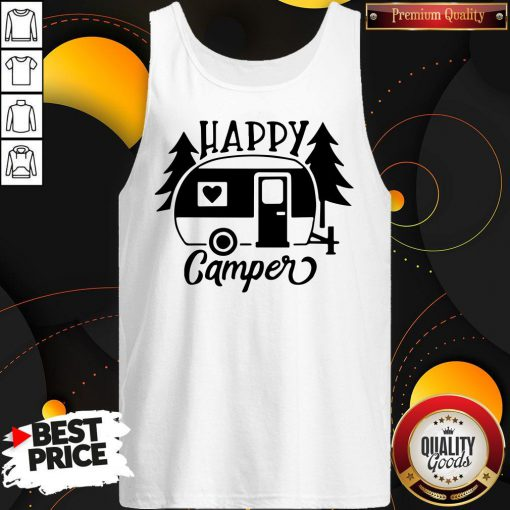 Funny Happy Camper Tank Top