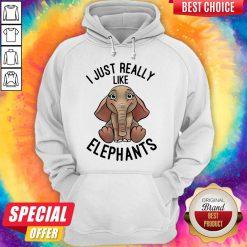 Funny I Just Really Like Elephants Hoodie