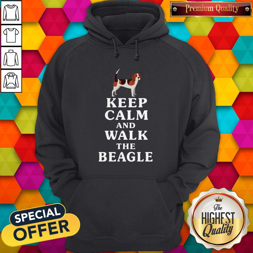 Funny Keep Calm And Walk The Beagle Hoodie