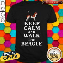 Funny Keep Calm And Walk The Beagle Shir