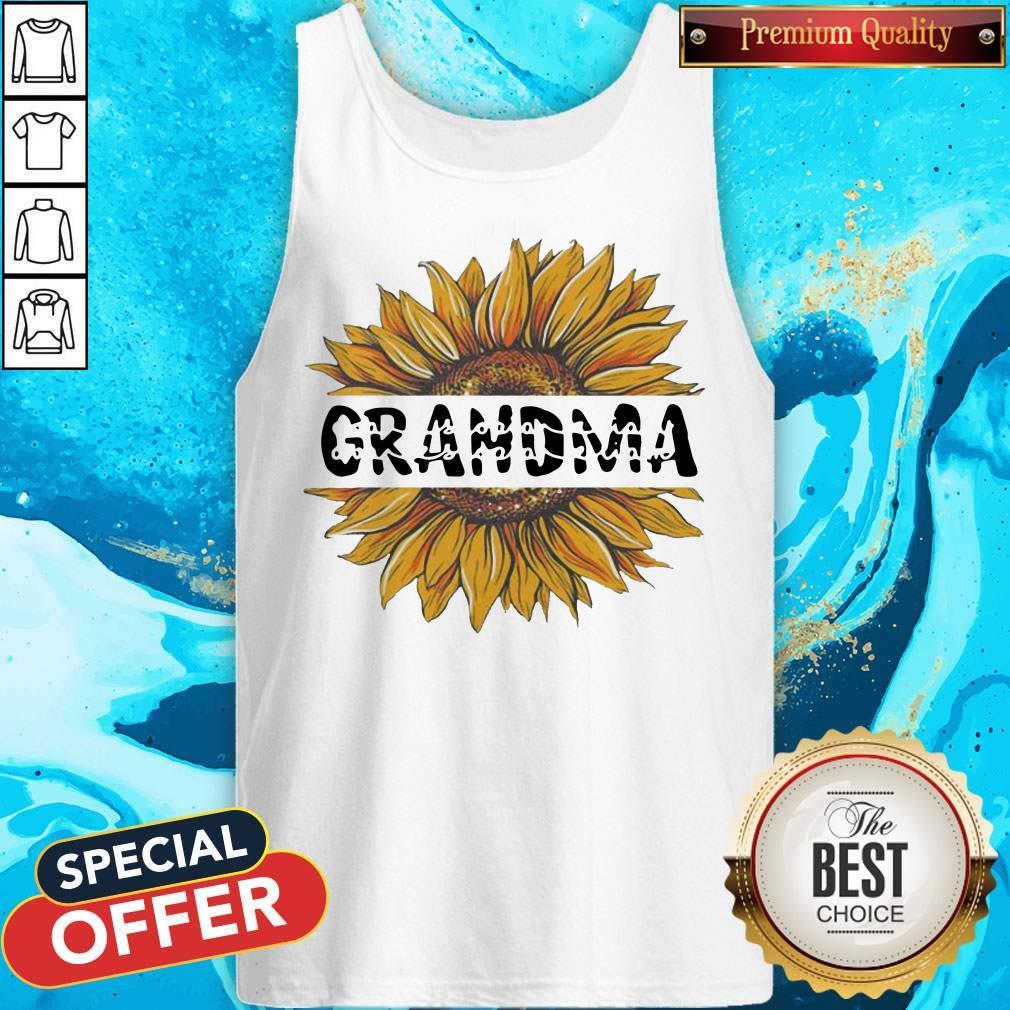 Funny Sunflower Grandma Tank Top