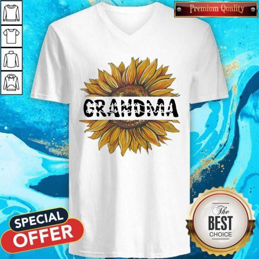 Funny Sunflower Grandma V-neck