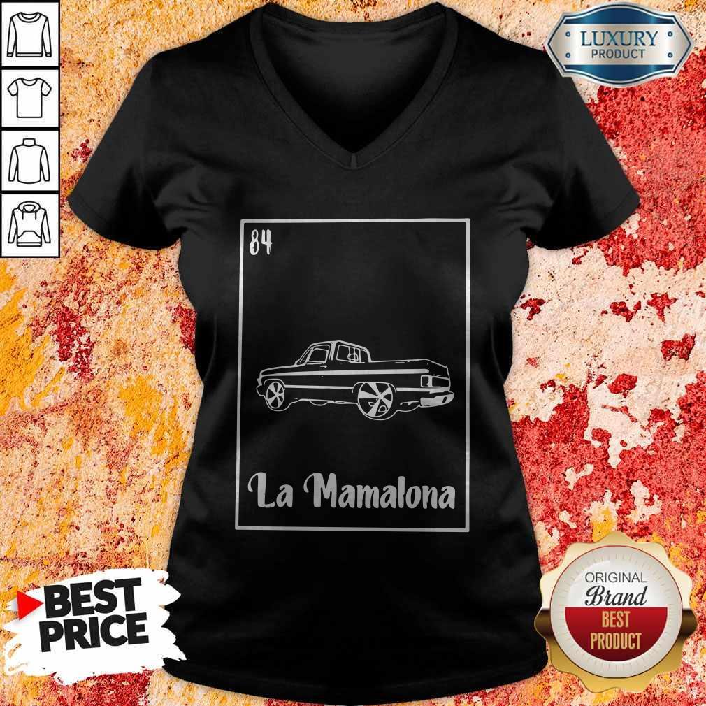 La Mamalona Car 84 Black V-neck