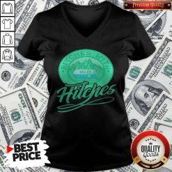 nice-bitches-with-hitches-truck-green-V-neck