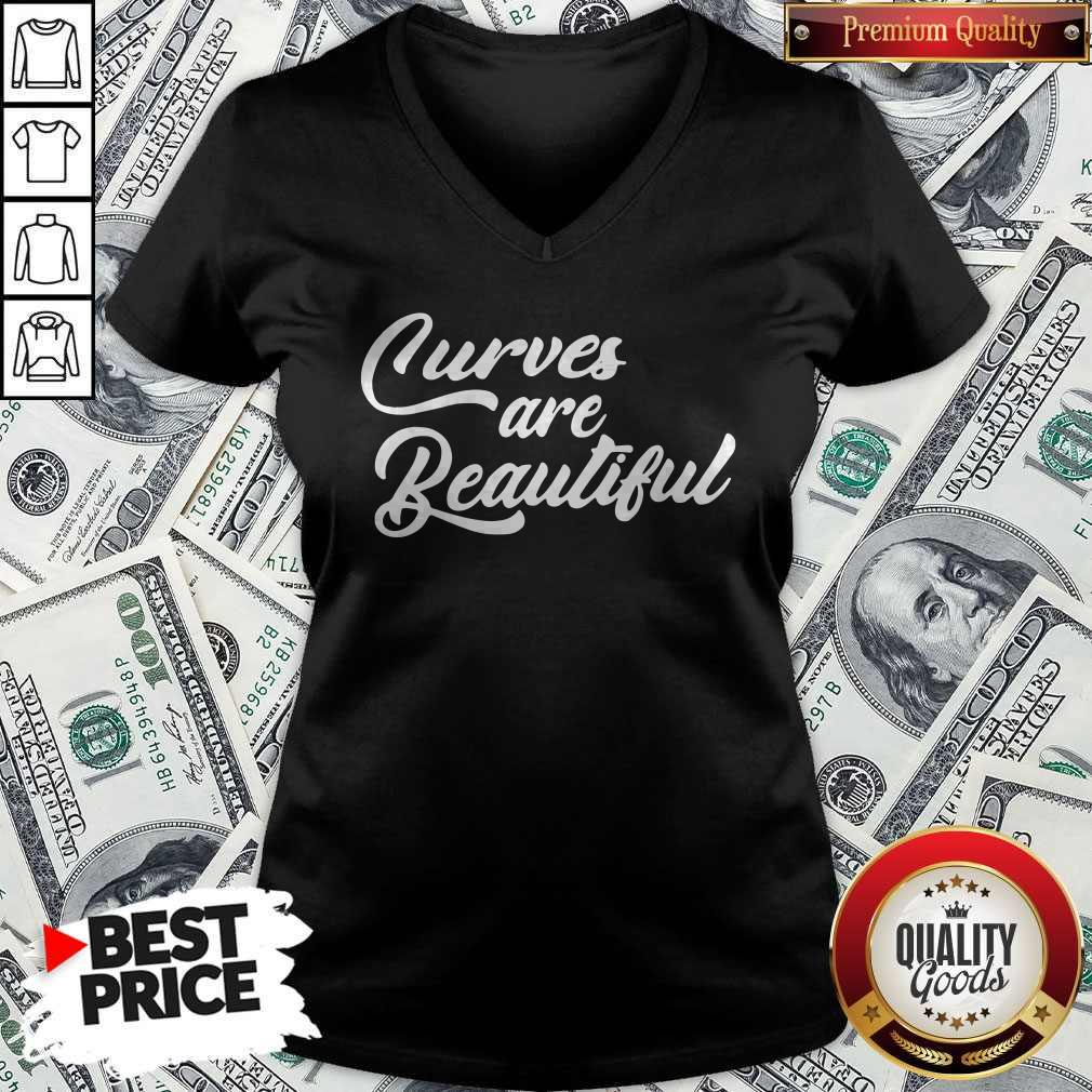 Nice Black Curves Are Beautiful V-neck
