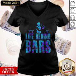 Nice Black Label Life Behind Bars V-neck