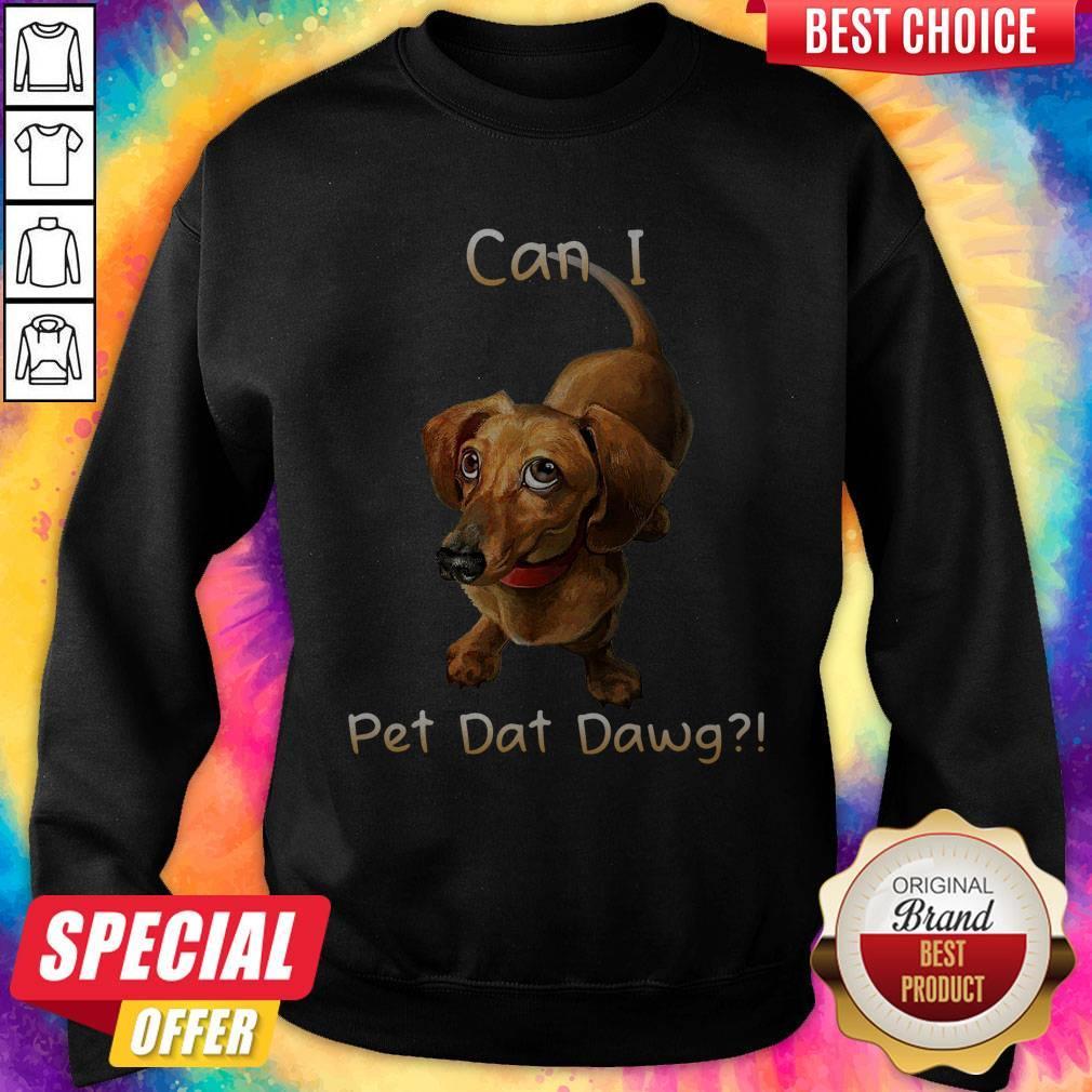 Nice Dachshund Can I Pet Dat Dawg Sweatshirt