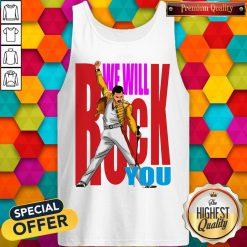 Nice Freddie Mercury We Will Rock You Tank Top