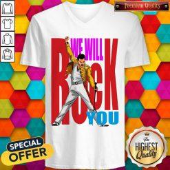 Nice Freddie Mercury We Will Rock You V-neck