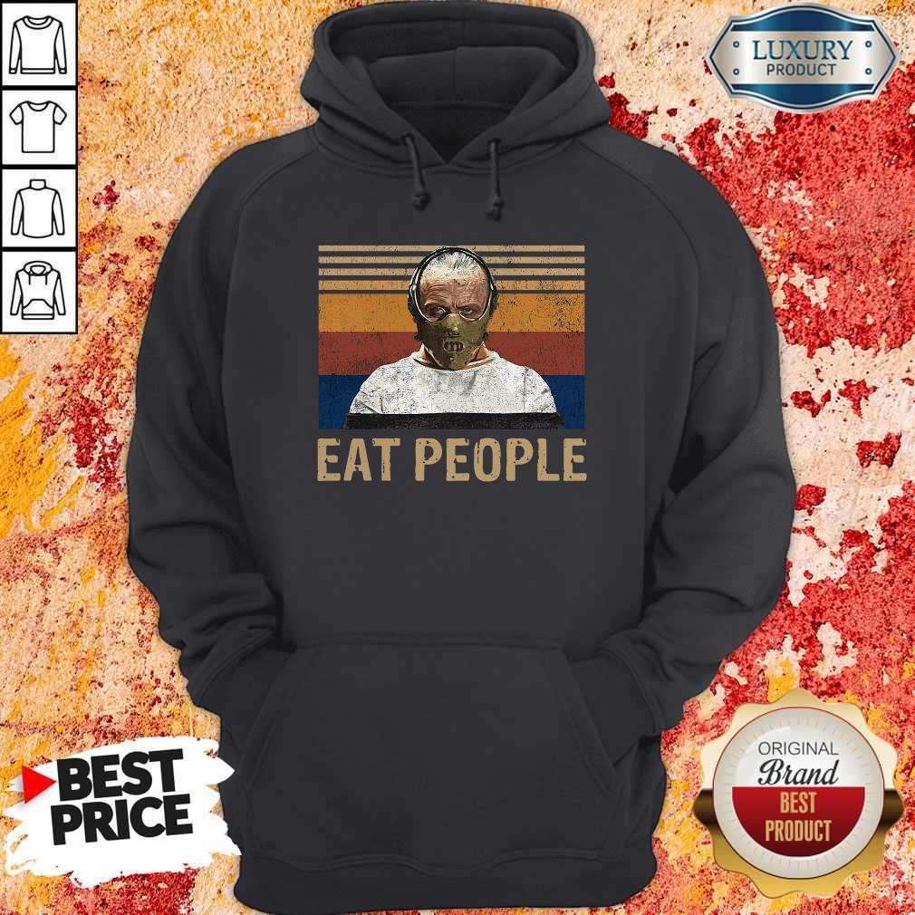 Nice Hannibal Lecter Eat People Vintage T-Hoodie