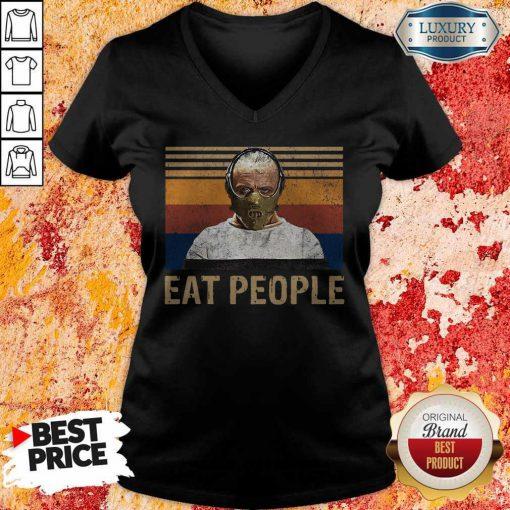 Nice Hannibal Lecter Eat People Vintage T-V-neck