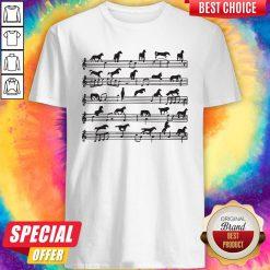 Nice Horse Notes On Sheet Music Shirt