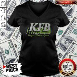 Nice Kfb Racing Finger Flickin' Good V-neck