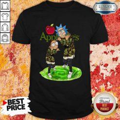 Nice Rick And Morty Applebee's Shirt