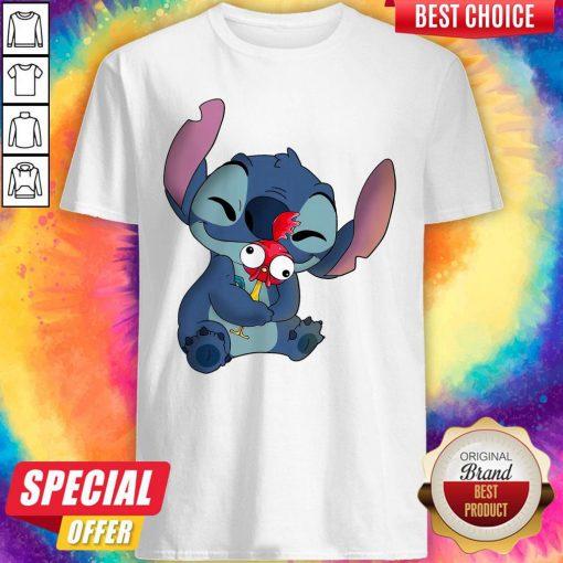 nice-stitch-hug-hey-hey-chicken-shirt