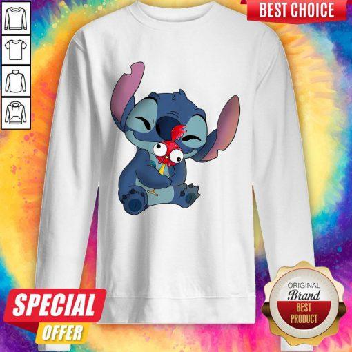 nice-stitch-hug-hey-hey-chicken-Sweatshirt