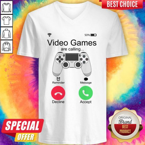 Nice Video Games Are Calling V-neck
