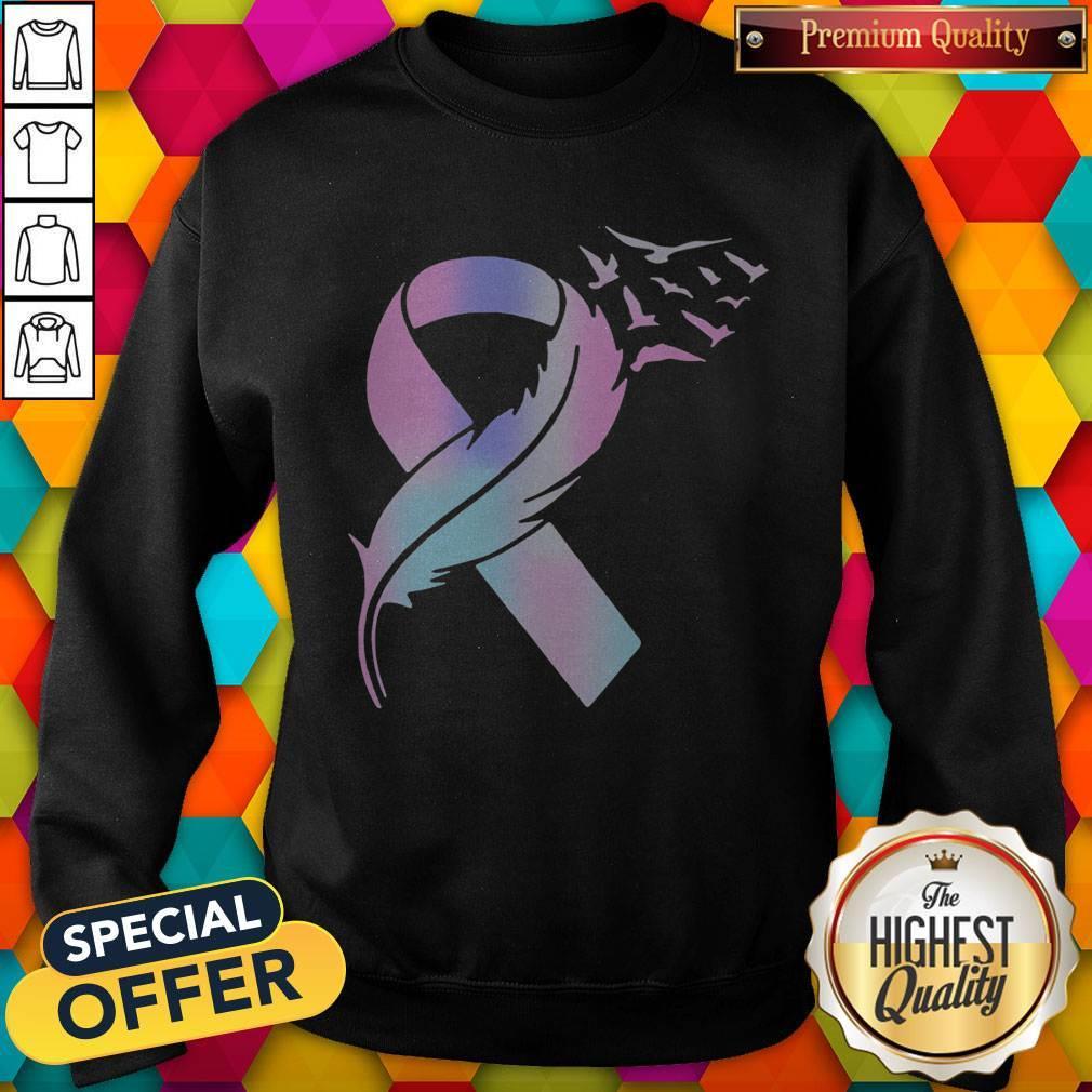 Nice Wings Bird Cancer Awareness Sweatshirt