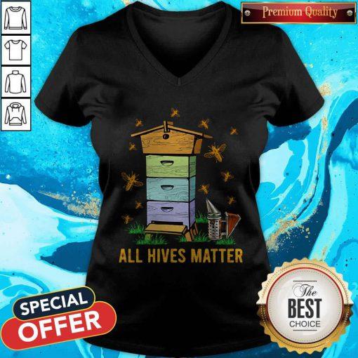 Official All Hives Matter Bees V-neck