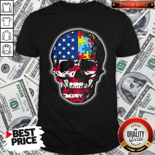 Official Skull America Puzzle Shirt